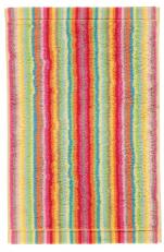 Serviette invité 30x50 cm 100% coton éponge lignés multicolores double face