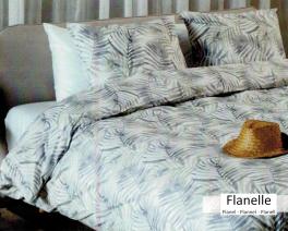 housse de couette r versible tropical palmier 100 coton. Black Bedroom Furniture Sets. Home Design Ideas