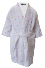 Children's bathrobe 100% cotton terry Mickey Minnie Stars Disney Washable 60°C