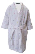 Peignoir enfant 100% coton éponge, Mickey Minnie Étoiles Disney lavable 60°C
