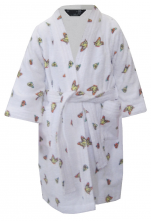 Children's bathrobe 100% cotton terry Flowers Butterflies Bambi Disney Washable