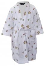 Peignoir enfant 100% coton éponge, Fleurs Papillons Bambi Disney lavable 60°C
