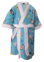 Children's bathrobe 100% cotton terry Dalmatians Disney Washable 60°C