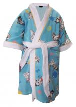 Peignoir enfant 100% coton éponge, Dalmatiens de Disney lavable 60°C