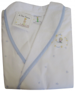 Child bathrobe 4 years The Little Prince light blue stars and planets 100% cotto
