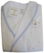Peignoir enfant 4 ans Le Petit Prince Etoiles et Planètes bleu ciel 100% coton