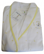 Peignoir enfant 4 ans Le Petit Prince Etoiles et Planètes jaune 100% coton