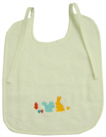 Vanilla bib 22x26 cm or 28x33 cm 100% cotton terry embroidery Rabbit