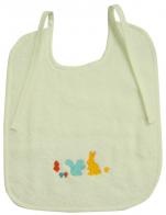 Vanilla bib 22x26 cm or 28x33 cm 100% cotton terry embroidery Rabbit