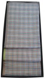 Boite de 3 mouchoirs dame 100% coton 33x33 cm fantaisie carreaux