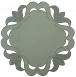 Napperon rond 20 cm de diamètre dalton vert 65/35 polycoton Sander