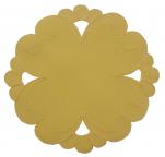 Napperon rond 20 cm diamètre Bernina jaune 100% polyester/satin