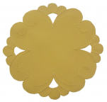 Round doily 20 cm diameter yellow bernina 100% polyester