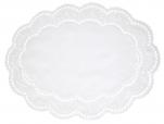 Napperon oval 39X29 cm Arnhein blanc 65% polyester et 35% coton