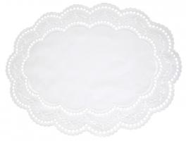 ovale tischset 39x29 wei em arnhein 65 polyester 35 baumwolle. Black Bedroom Furniture Sets. Home Design Ideas