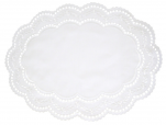 Napperon oval  43x34 cm Arnhein blanc  65% polyester et 35% coton