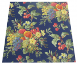 Napkin 45x45 cm 100% cotton Baskets of fruits navy blue