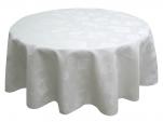 Nappe 100% polyester jacquard formes géométriques blanc lavable 60°C