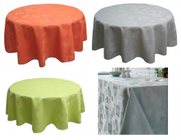 Nappe 100% polyester jacquard formes géométriques couleurs lavable 60°C