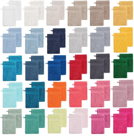 Wash glove 15x22 cm 100% pure combed towelling cotton 560gr/m² 30 colors