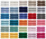 Hand towel 50x100 cm 100% pure combed towelling cotton 560gr/m² 30 colors