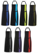 Two-tone bib apron 65% polyester 35% cotton height 92 cm without pocket 60°C