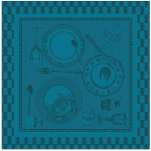 Napkin 53x53 cm Duck blue dishes 100% cotton 220 gr/m²