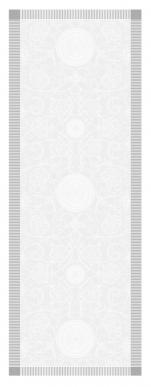 Table runner 54x149 cm 100% white jacquard cotton, stain resistant treatment