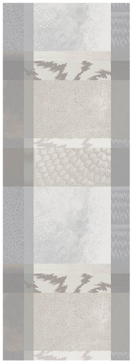 Table runner 55x180 cm 100% cotton gray and beige games