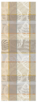 Table runner 55x155 cm 100% cotton gray and beige shells and leaves