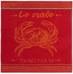 Hand towel 50x50 cm red/orange crab 100% cotton jacquard