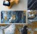 Bath mat painting 80x150 cm 65% cotton 30% Acrylic 5% Lurex 2200 gr/m²