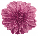 Bath Mat pink flower 100 cm in diameter 100% terry cotton 1900 gr/m²