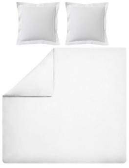 Duvet cover + pillowcase 100% pure white percale cotton easy care