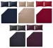 Duvet cover + pillowcase 100% pure percale cotton dark color easy care