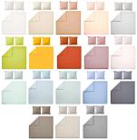 Duvet cover + pillowcase 100% pure percale cotton color easy care