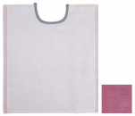Reversible bib ivory / pink 33x40 cm 100% cotton terry