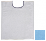 Reversible bib ivory / blue 33x40 cm 100% cotton terry