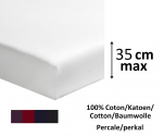 Fitted sheet 100% cotton percale dark colors  length 200cm mattress up to 35cm