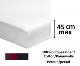 Fitted sheet 100% cotton percale dark colors  length 200cm mattress up to 45cm
