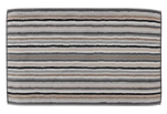 Bath mat 50x80 cm 100% cotton terry multicolored gray lines double sided