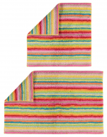 Reversible bath mat 100% combed terrry cotton, multicolored lined 2200 gr/m²