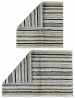 Reversible bath mat 100% combed terrry cotton, gray lined 2200 gr/m²
