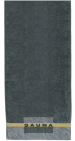 Large bath towel in 100% cotton terry 80x200 cm, anthracite gray with Sauna