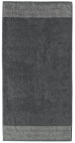 Large bath towel in 100% cotton terry 80x200 cm, anthracite gray
