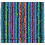 Face Cloth 30x30 cm 100% cotton terry multicolored green  lines double sided
