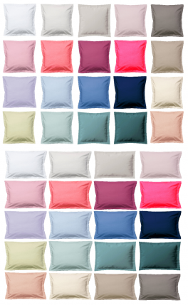 Pillowcase 100% long-staple combed cotton percale easy care, 200 TC