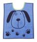 Bib 33x40 cm100% cotton blue and gray dog