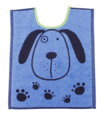 Bib 33x40 cm100% cotton blue and gray dog