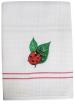 Tea towel 50x70 cm 100% cotton white waffle embroidery ladybug